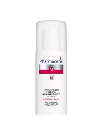 Aktywny krem przeciwzmarszczkowy SPF 10 Pharmaceris N Magni - Capilaril