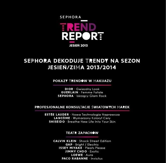 Sephora Trend Report jesień 2013/2014